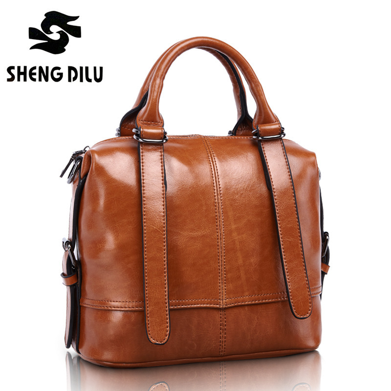 Bbolsa Feminina Wax Oil GENUINE LEATHER bag bags Vintage British Style Desigener handbags High Quality women famous brands 1465 chispaulo women genuine leather handbags cowhide patent famous brands designer handbags high quality tote bag bolsa tassel c165