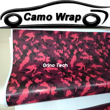 Orino black Red Ubran Camo Vinyl Car Wrap Air Bubble Free snow arctic Camouflage Film Vehicle Stickers covering foil