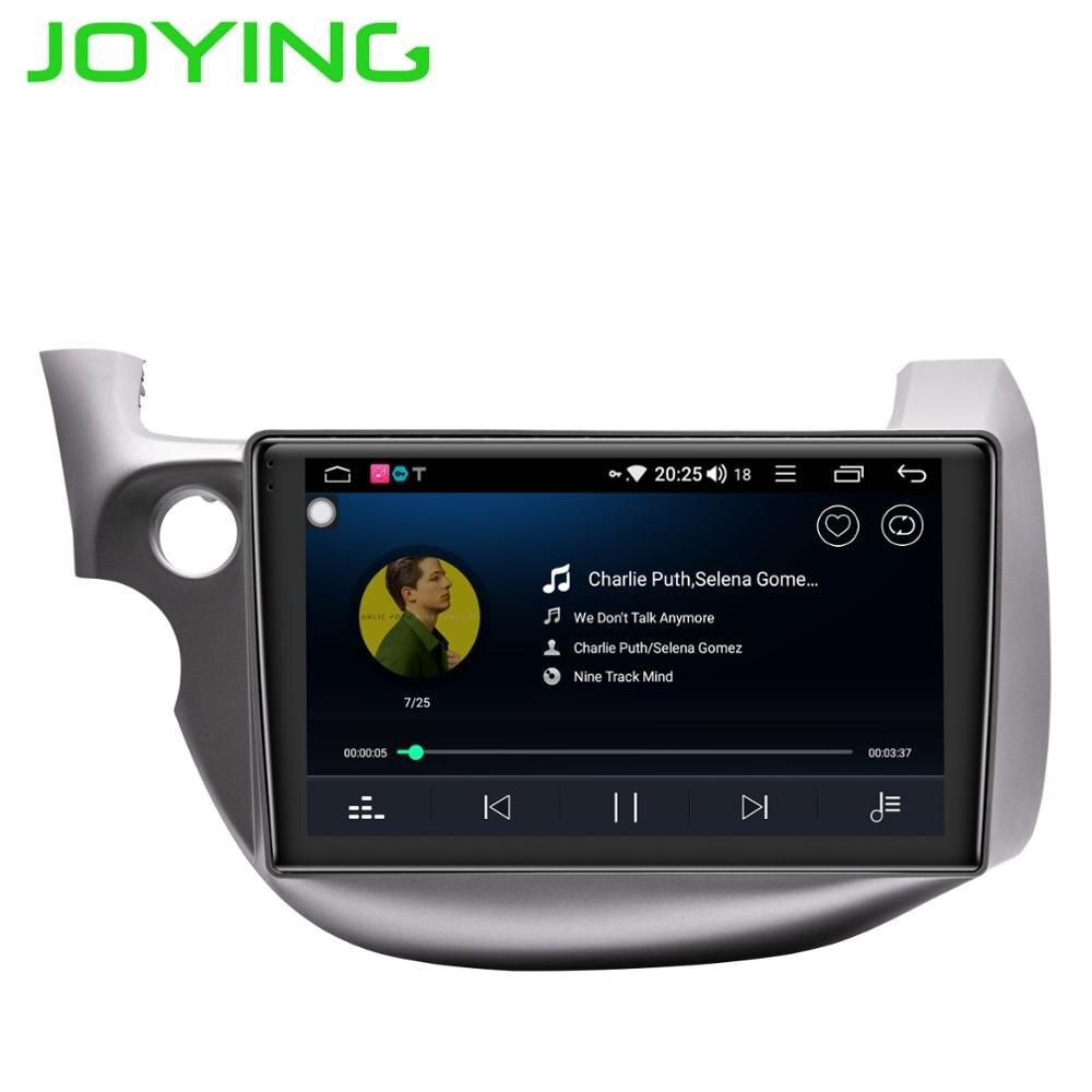 Lecteur multimédia de voiture JOYING Android 8.1 magnétophone navigateur GPS 8 core 64 GB ROM 4 GB RAM Radio pour Honda Fit/Jazz 2008-2013