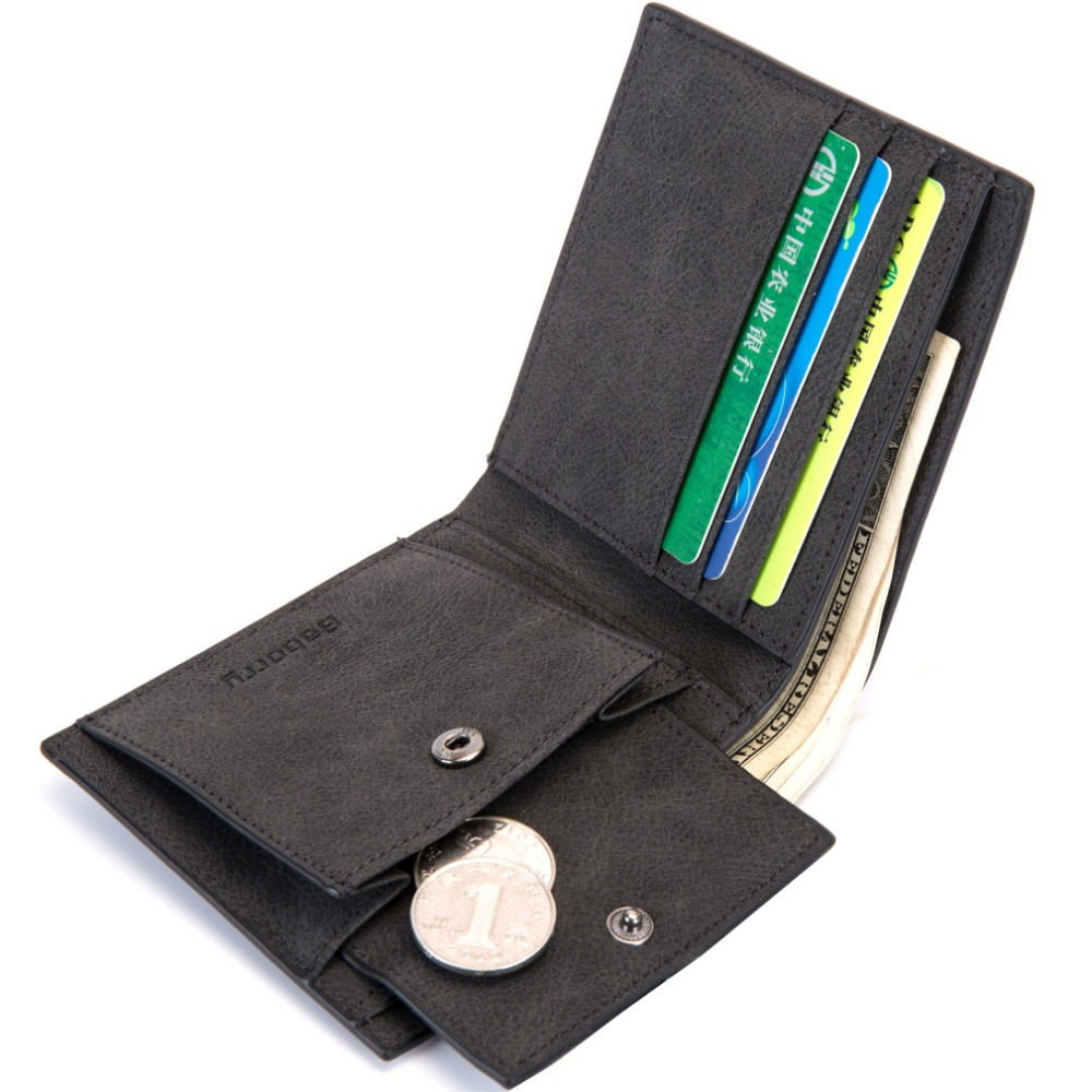 2018 Fashion Rfid Men Wallets Mens Wallet with Coin Bag Zipper Small Mini Wallet Purses New Design Dollar Wallet Slim Money Bag