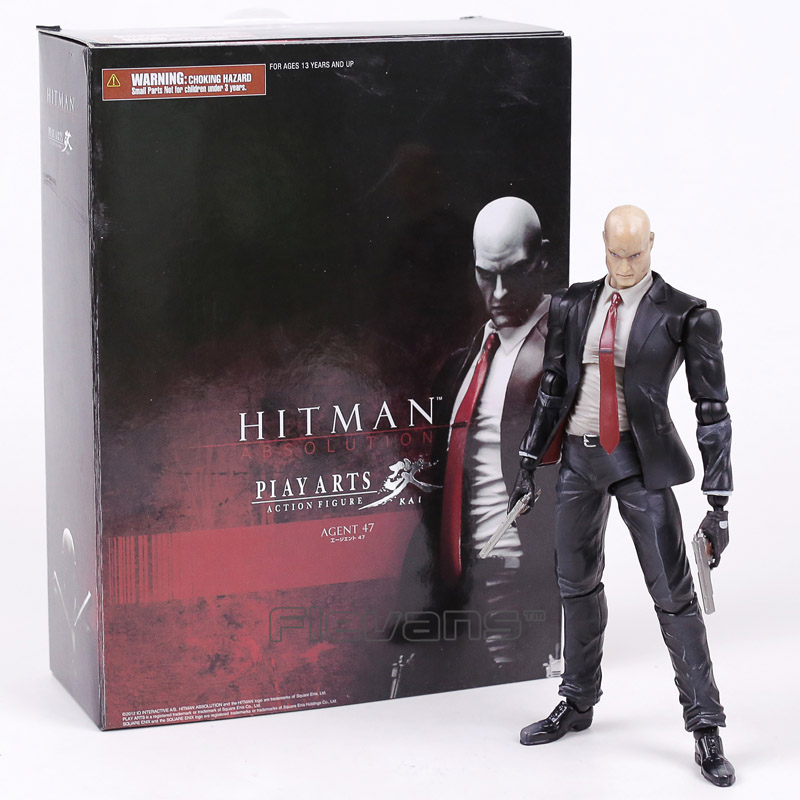 PLAY ARTS KAI HITMAN ABSOLUTION AGENT 47 PVC Action Figure Collectible Model Toy 23cm цена и фото