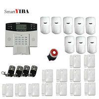 SmartYIBA 2 กรัมไร้สายระบบ Motion เซ็นเซอร์ประตูหน้าต่างหน้าจอ Lcd รีโมทคอนโทรล Alarm Security System