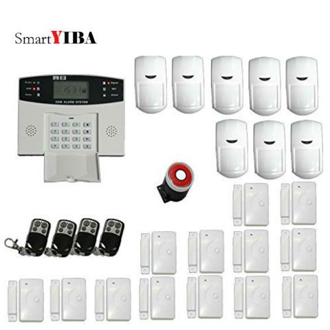 SmartYIBA 2G Wireless ALARM SYSTEM FOR HOME Motion Door Window Sensors LCD Screen Display Remote Control Alarm Security SystemSmartYIBA 2G Wireless ALARM SYSTEM FOR HOME Motion Door Window Sensors LCD Screen Display Remote Control Alarm Security System