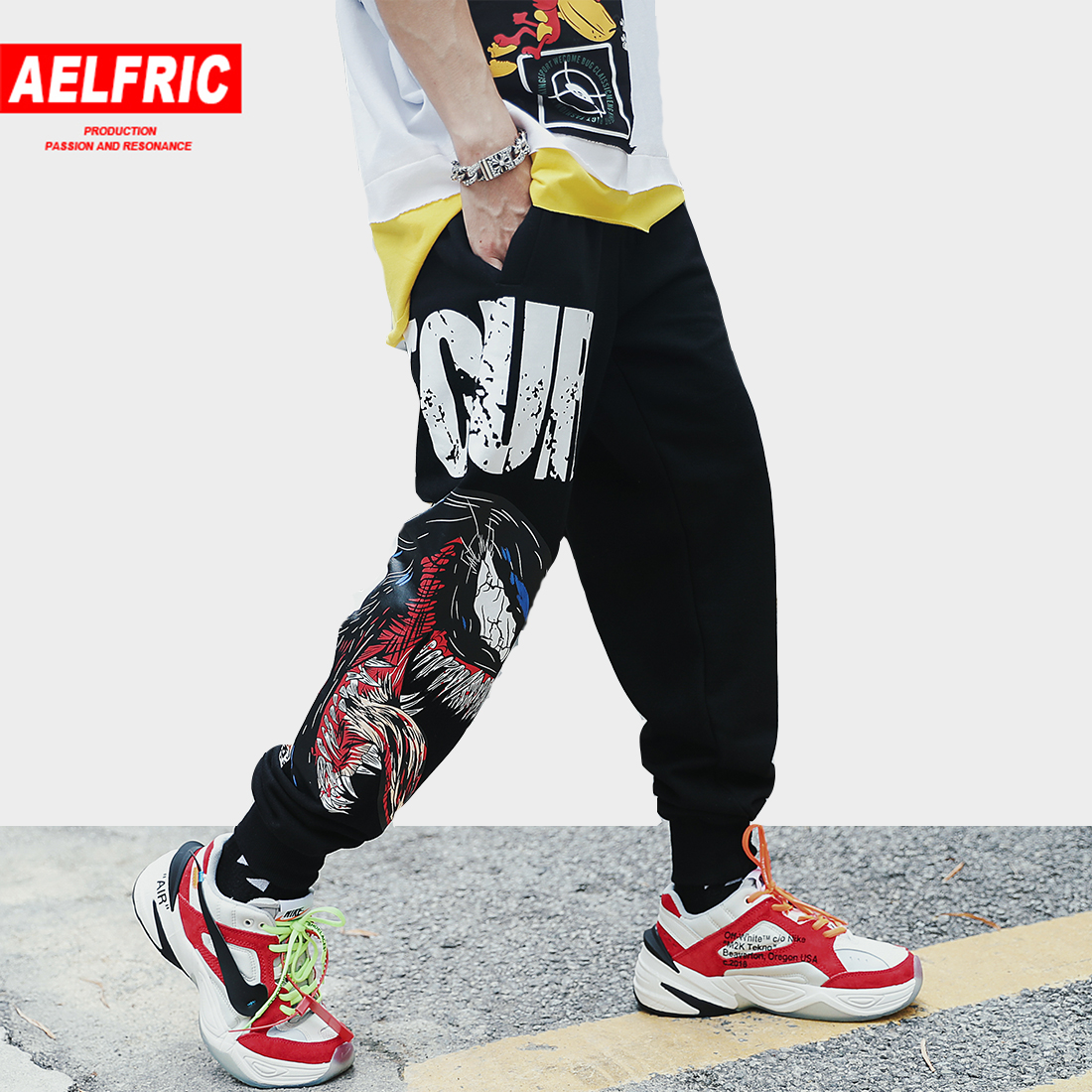 Aelfric Casual Pants Man 2019 Spring New Arrival Animal 3d Print Fashion Joggers Harajuku Streetwear Hip Hop Black Sweatpants