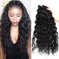 3 Связки Перуанский Девы Волос Волна Воды Девственные Волосы Естественным мокрый И Волнистые Человеческих Волос Связки Королева Ягода Перуанский Волос пучки