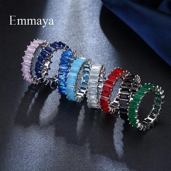 EMMAYA Silver Color Unique Design CZ Ring Paved Austrian Zircon Fashion Women Ring Jewelry 5