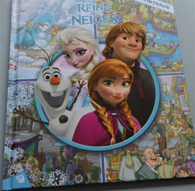Parent Child Kids Baby Classic Bedtime Story DISNEY PEINE DES NEIGES Frozenn Picture Cardboard French Book Age 2-12