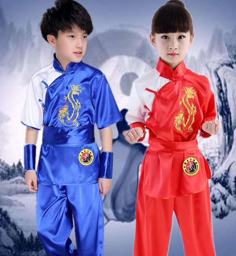 Crianças menina Adulto Dobok Taekwondo Wushu roupas Traje Kimono Judo Terno Chinês Kung Fu Tai Chi