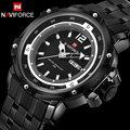 Мужчины спортивные Часы NAVIFORCE бренд мужской кварцевые часы полный стальной ленты наручные часы для мужчин 30 М водонепроницаемый белый relogio masculino
