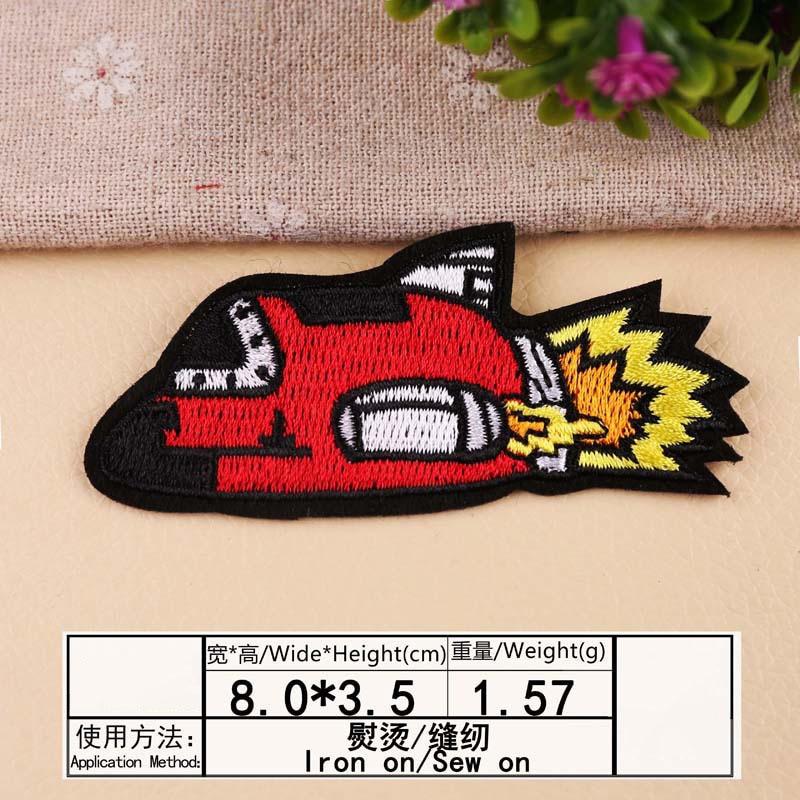 Космонавты и ракеты планета вышивка патч теплопередачи железа на пришить патчи для DIY Наклейка на одежду декоративная аппликация 47233 - Цвет: N