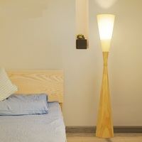 The study of solid wood Floor Lamps Japanese living room bedroom creative simplicity and individuality of modern wind LU815302