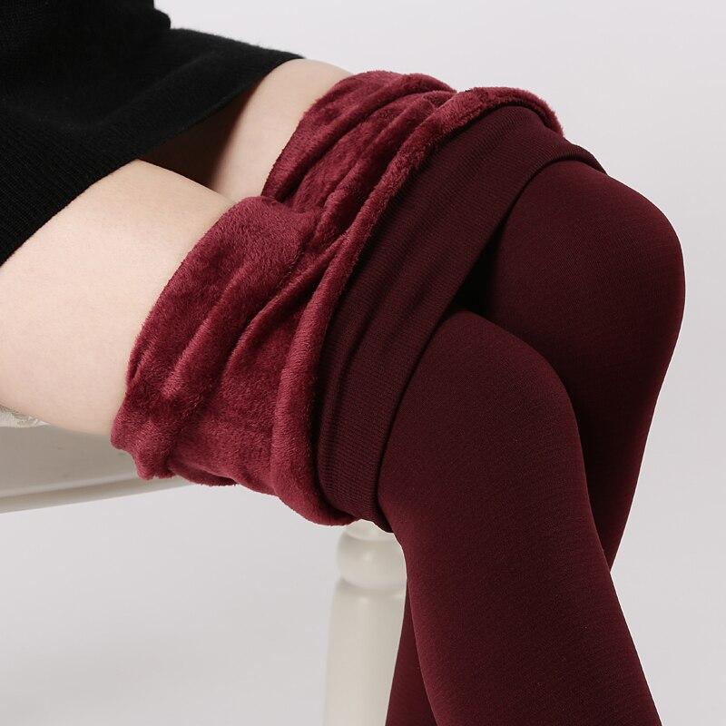 CHLEISURE Winter Warm Velvet Leggings Women High Waist Thick Legging Fashion Solid Large Size Autumn Leggings S-XL 8 Colors