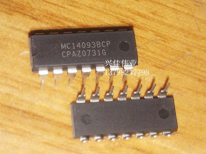 10PCS New original authentic MC14093BCP DIP-14 Logic - Gates and Inverters image