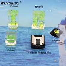 Wingridy 3 Trục Giày Nóng Cố Định Bong Bóng Mức Độ Tinh Thần 3D 2D Mức Độ Tinh Thần Cho Canon/Nikon/Pentax máy Ảnh DSLR Phụ Kiện Chụp Ảnh