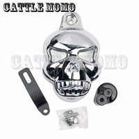 Motorcycle Skull Horn Covers for Harley Dyna Sportster Softail V Rod Glide Ultra Road King 1992 1998 1999 2010 2011 2012