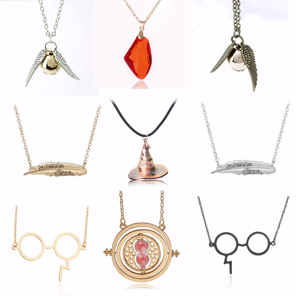 2019 Potter Magic stone necklace Pendants toy Fly Thief The philosopher's Red Stones Ruby necklace Collier Action Figure Toys image