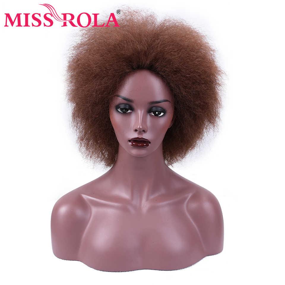 Miss Rola Coco синтетические парики из канекалона кудрявые прямые волосы для женщин 6 дюймов короткие парики 3 цвета черный 2 # 99j # термостойкий парик