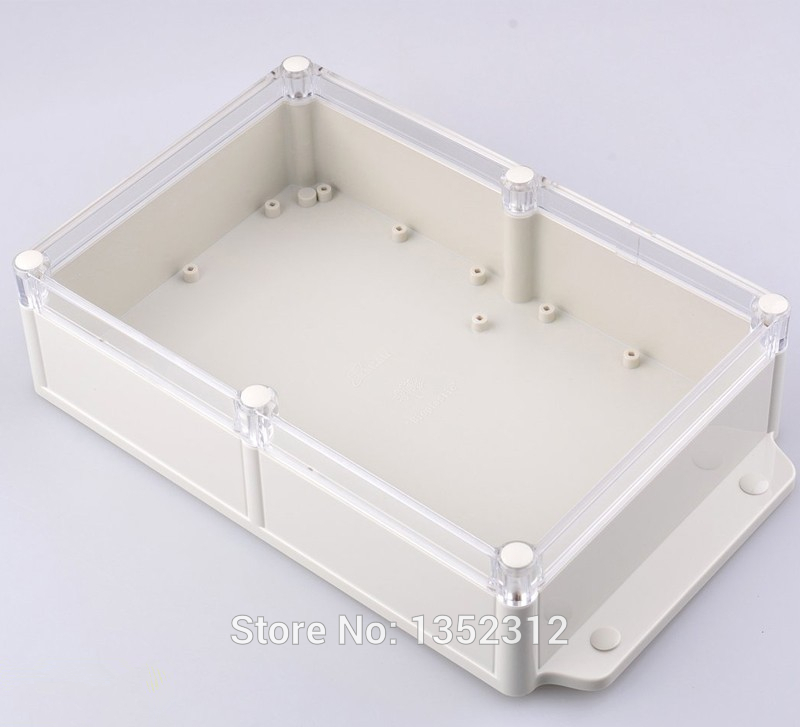 1 pcs 283*165*66mm IP68 waterproof plastic box for electronics wall mount plastic amplifier enclosure abs PLC instrument box