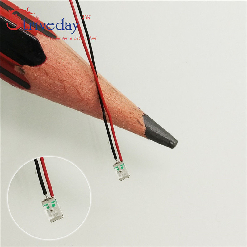 10pcs/lot 0603 SMD Pre-soldered Micro Litz Wired LED Leads Resistor 8-12V 20cm DIY 9 Colors Can Choose
