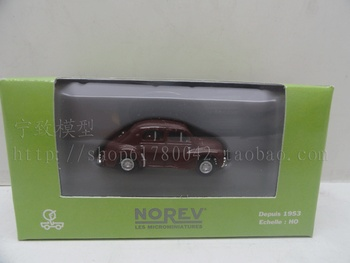 Special wholesale 1:87 scale Simulation mini alloy car,Simulation NOREV Wine red classic car,Collection toy model,free shipping image