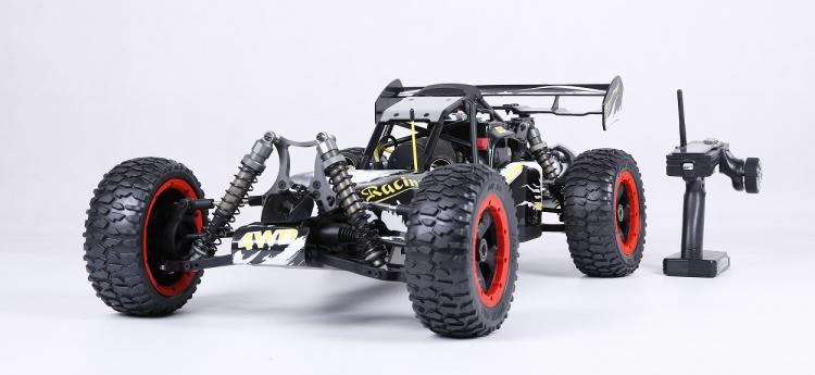 Rovan Racing 1/5 Rc voiture 4WD BAJA Buggy puissant 30.5CC 2 T engin à gaz avec carburateur Walbro Ngk bougie d'allumage