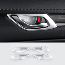 car body cover protection bumper abs chrome trim rear back tail bottom around panel 1pcs for mazda cx 5 cx5 2nd gen 2017 2018 For Mazda CX-5 CX5 2017 2018 KF 2nd Gen ABS Car Interior Door Handle Handrail Frame Cover trim Stickers Decoration Car styling