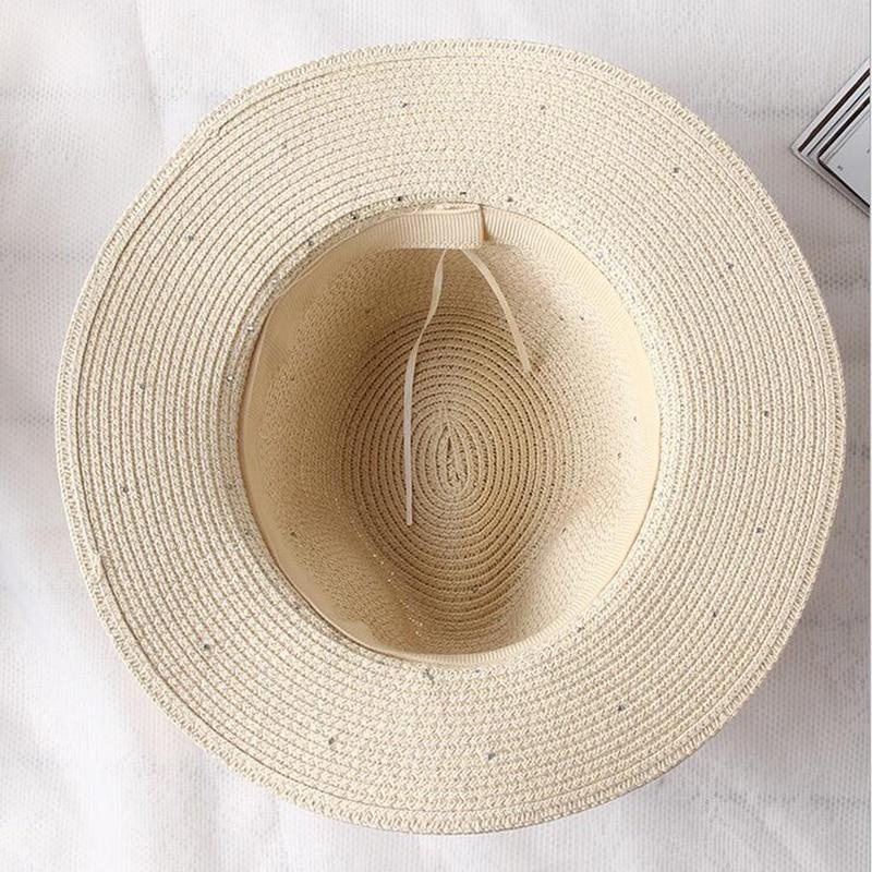 Summer Spring Sun Straw Caps Pearl Fashion Women Mens Hat Beach Panama Style Sun Hat in Women 39 s Sun Hats from Apparel Accessories