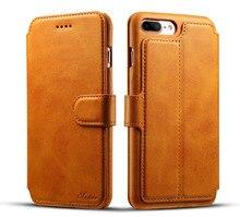 Кожаный чехол для iPhone 7 6S 6 плюс Ретро Бумажник Чехол защитный мешок мобильного телефона для Samsung S8 S8 плюс ракушки бумажник телефон