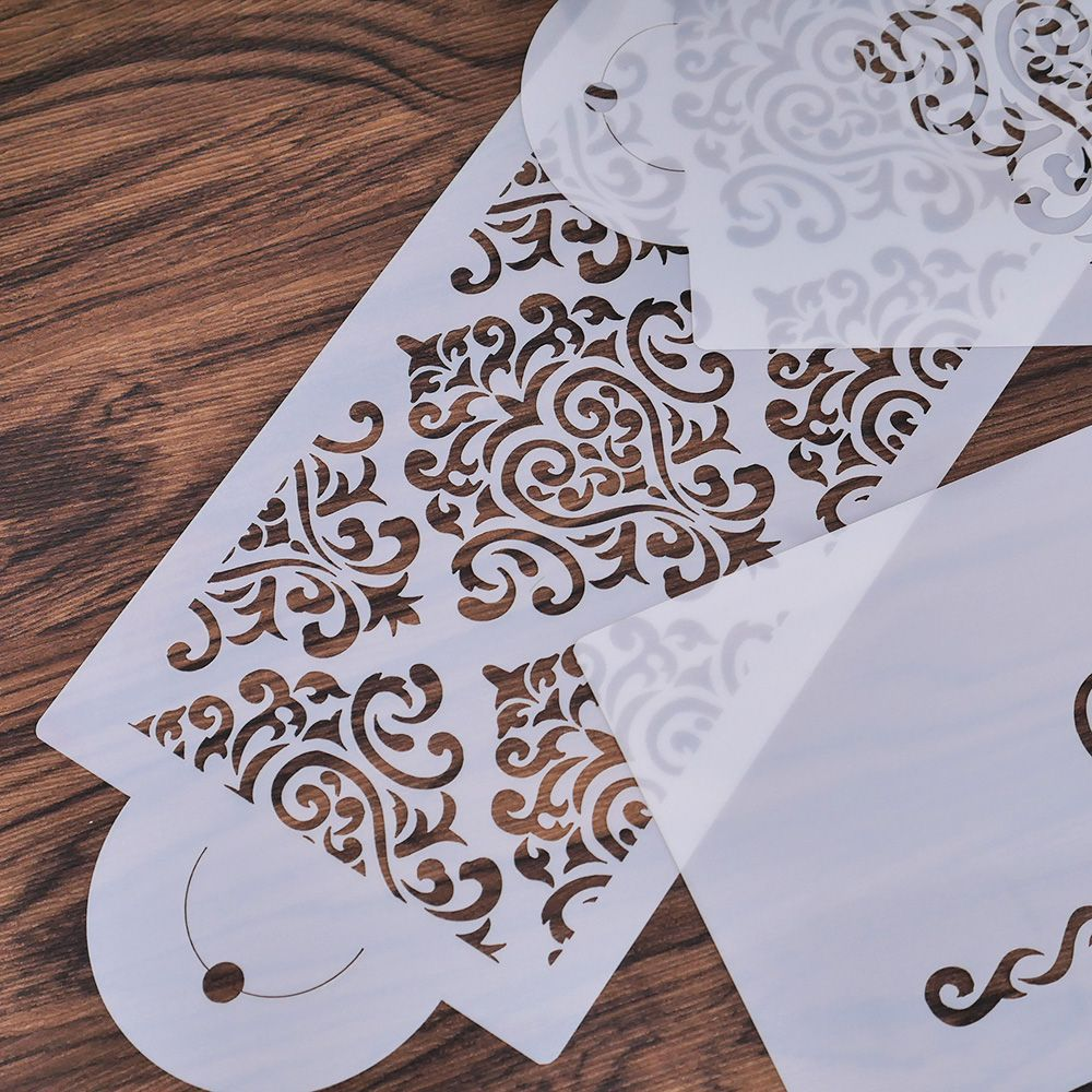 3PC Plastic Heart Crown Lace Flower Reusable Stencil Airbrush Painting Art DIY Home Decor Scrap Booking Album Crafts Free Ship