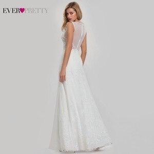 Image 3 - Vestidos De novia De encaje con cuello en V EZ07832CR, vestidos De novia Bohemia boda, vestidos De novia, Vestido De novia De tul 2020