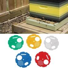 5pcs Beekeepers Bee Hive Door Entrance Disc Reducer Rotating Bee Nest Gate Box