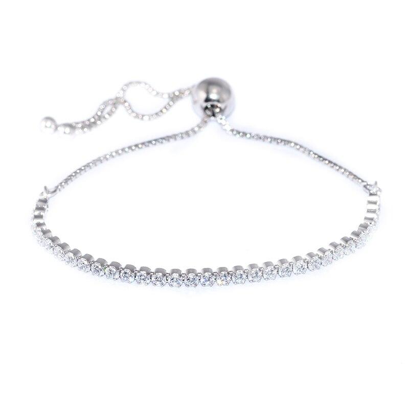 Été Brin Mousseux Bracelet 100% Argent 925 Bijoux CZ Bracelets Pour Femmes Bijoux Livraison Gratuite kk78787