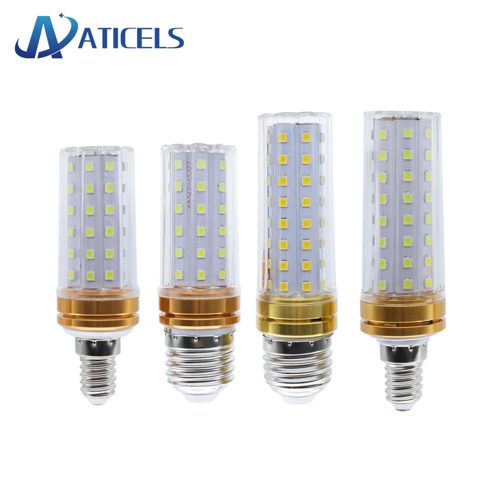 Ac 220v Led Corn Lamp 12w 16w E27 E14 White / Warm White / Cct Transparent Cover Corn Bulb Chandelier Led Light