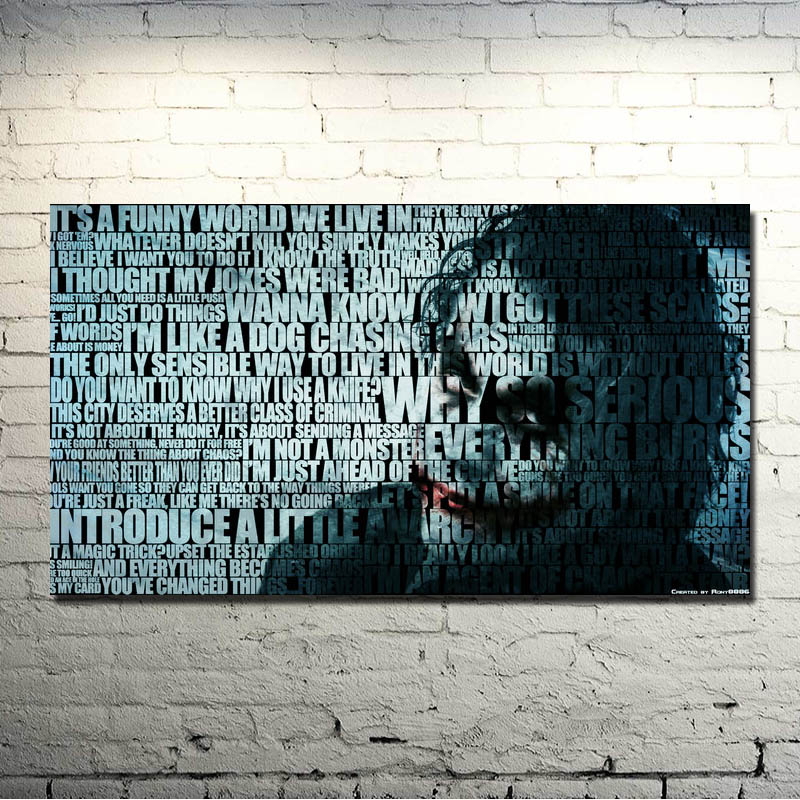 The Dark Knight Rises - Joker Movie Game Art Silk Fabric Poster Print 13x24 24x43 Inch For Room Decor Pictures 022