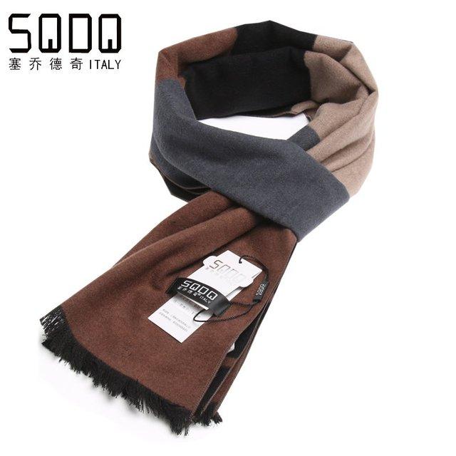2016 зима хорошее качество глушитель теплый шарф мужские шелк щеткой шарф для boyfriend подарок 0901