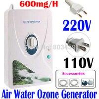 Alta calidad 600 mg/h 220 V 110 V generador de ozono ozonizador ionizador O3 temporizador Purificadores de aire aceite vegetal carne fresca purificar aire agua