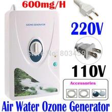 Di alta Qualità 600 mg/h 220V 110V Generatore di Ozono Ozonizzatore ionizzatore O3 Timer Depuratori Daria Olio Vegetale a base di Carne Fresca purificare l Aria Acqua