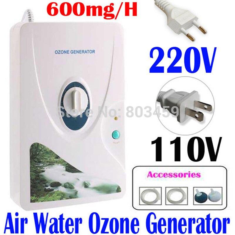 Haute qualité 600 mg/h 220 V 110 V générateur d'ozone ozonateur ioniseur O3 minuterie purificateurs d'air huile végétale viande fraîche purifier l'eau de l'air