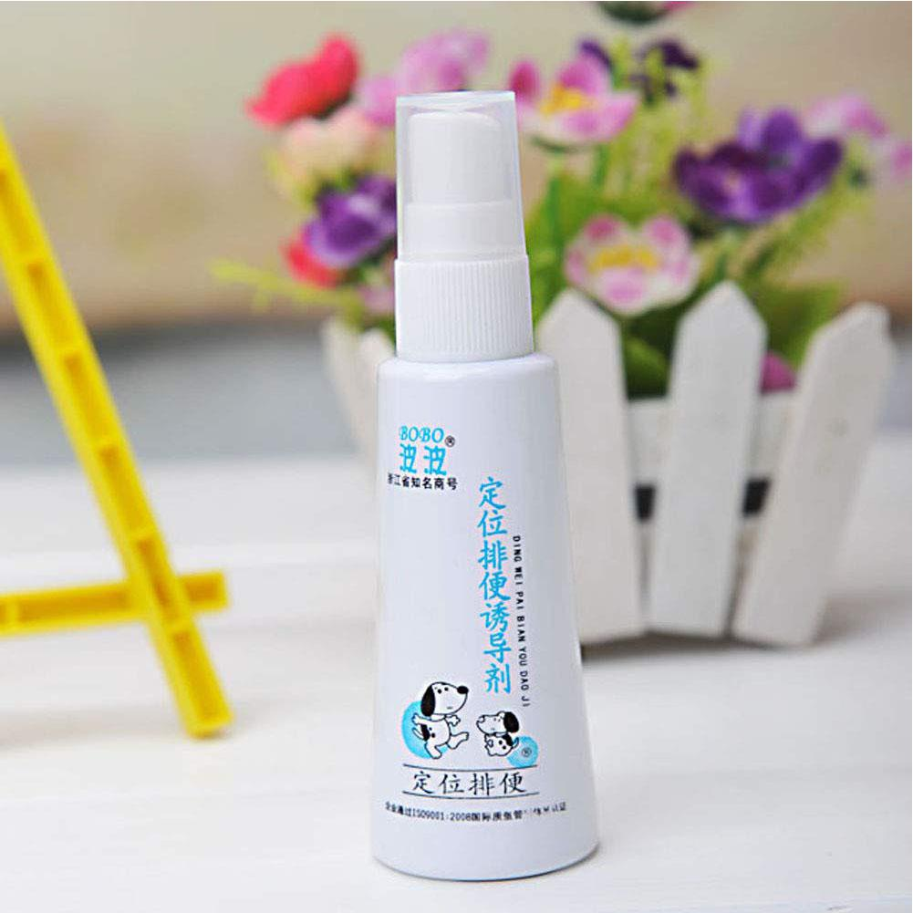 Top Selling 60ML Effective Pet Toilet Training Spray Dog Props Inducer Training Products Puppy Positioning Defecation