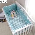 Набор постельных принадлежностей для детской кроватки с героями мультфильмов  6 шт.  Хлопковый бампер для детской кроватки protetor de berco  включа...