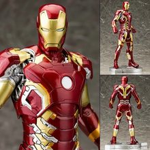 Marvel Homem De Ferro Mark XLIII 43 1/6 Scale Pré-pintado Modelo Kit com Luz LED PVC Action Figure Collectible modelo de Brinquedo(China)
