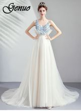 все цены на Genuo New Elegant vintage v neck ruffle summer dress women Sexy mesh bodycon dresss Trumpet chiffon short dress party vestidos
