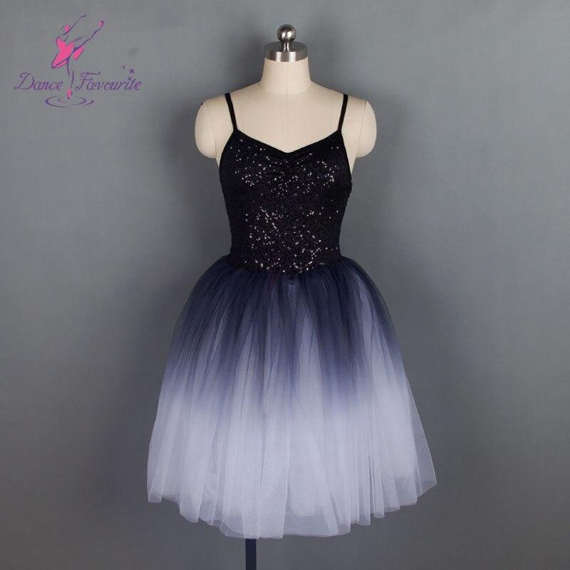 18583 Dance Favourite New Sequin Black Performance Stage Ballet Tutu Women & Girl Dance Tutu ballet costume