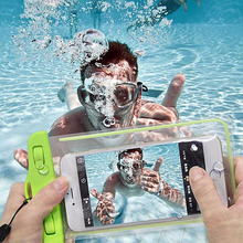 Waterproof soft clear PVC phone pouch bags case for samsung galaxy s8 J5 J7 J3 A3 A5 A7 2016 2017 for iphone X 8 5s sport bags(China)