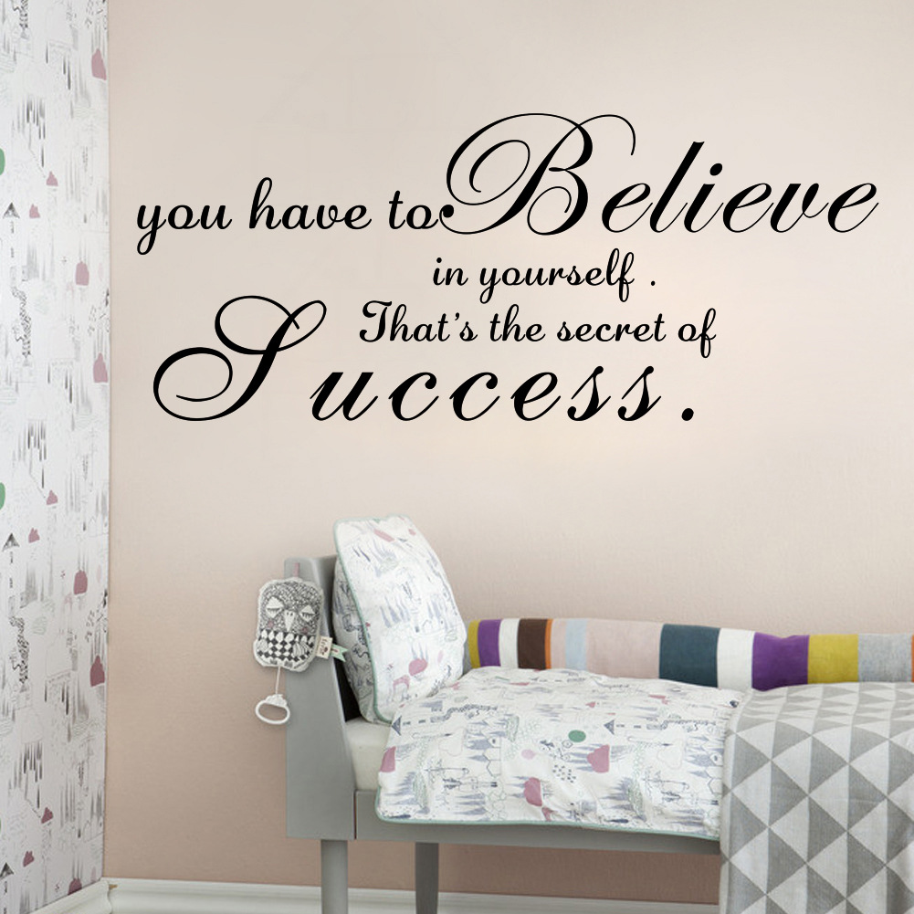 AW9066A you have to believe English stickers living room bedroom wall wholesale custom