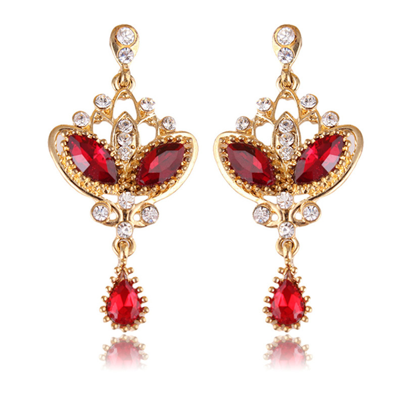 product online silver fancy genuine earrings plated diamond earring buy style gold beautiful