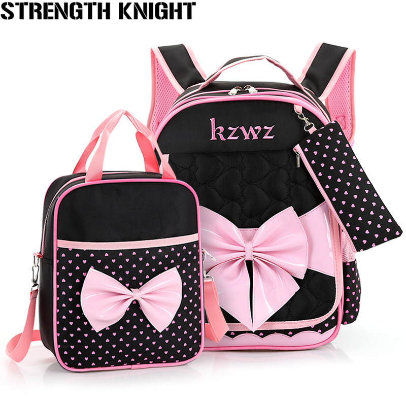Lovely Bow Schoolbags Cute 2018 Children Orthopedic School Bags For Girls High Quality Cartoon Knapsack For Youth Kids Girls 54 youth bow