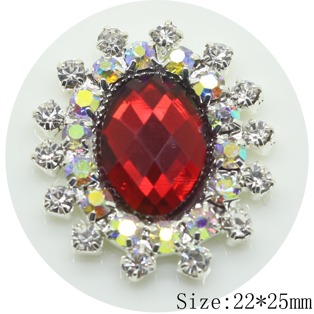 New 5pc AB color rhinestone button 2017 red Wedding invitations ...