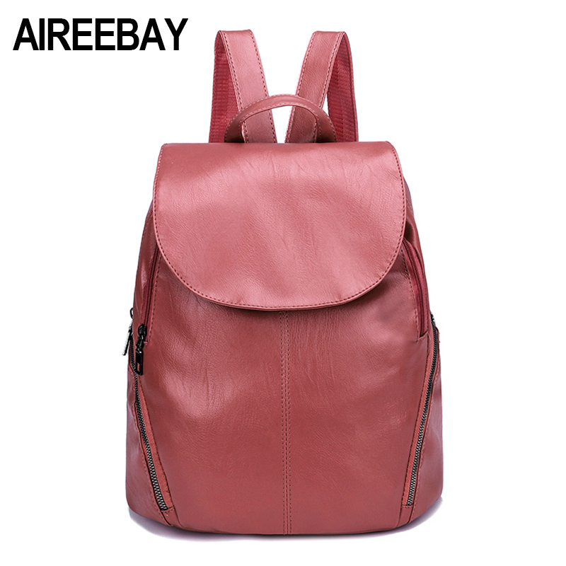 AIREEBAY Korean Style Wome Backpack 2018 New Designer Fashion Backpacks Female Travel Bags Woman Bagpack School Bags For Girls