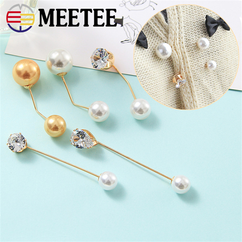 5pcs retro fashion Pearl Brooch Pin buckles Dress Decoration Brooches scarf buckle  for Men Women garment accessories AP2768